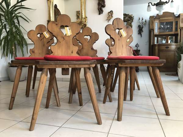8 Bauernsessel Sessel Stuhl Herzerlsessel Kiefernholz Z1523
