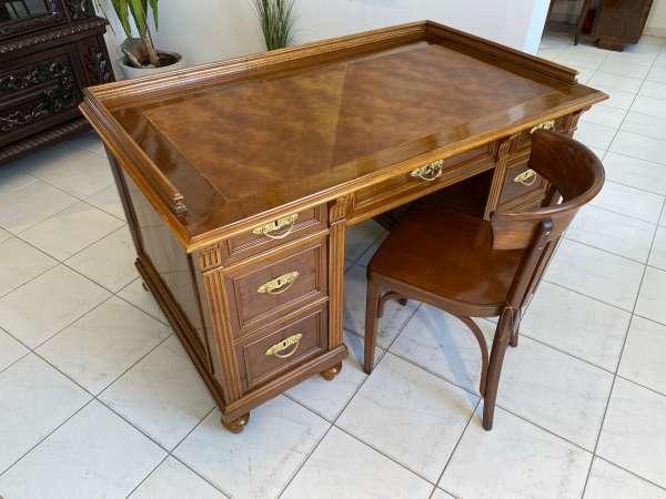 restaurierter Gründerzeit Schreibtisch Sekretär Schreibmöbel A2636