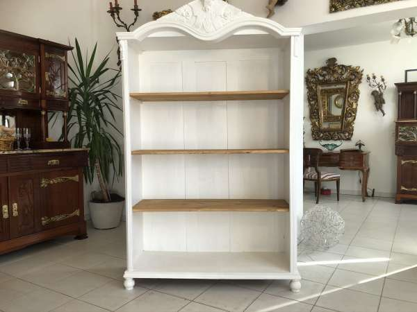 altes Bücherregal Gründerzeit Bücherschrank Chabby Chic E1220