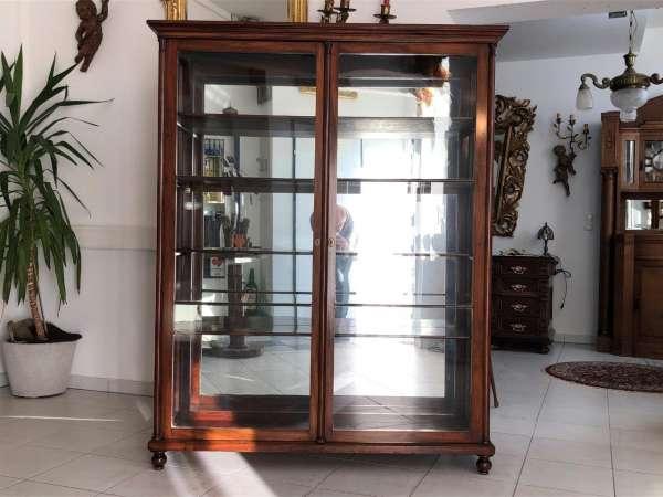 originale Biedermeier Vitrine Bücherschrank Glasschrank Z1249