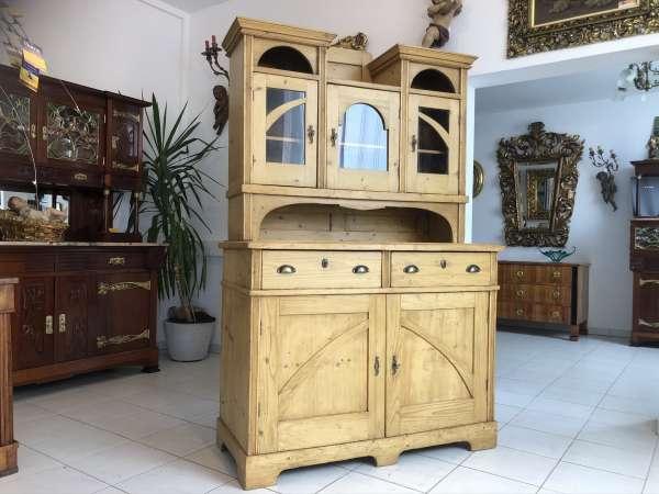 restaurierte Jugendstil Kredenz Küchenschrank E1303