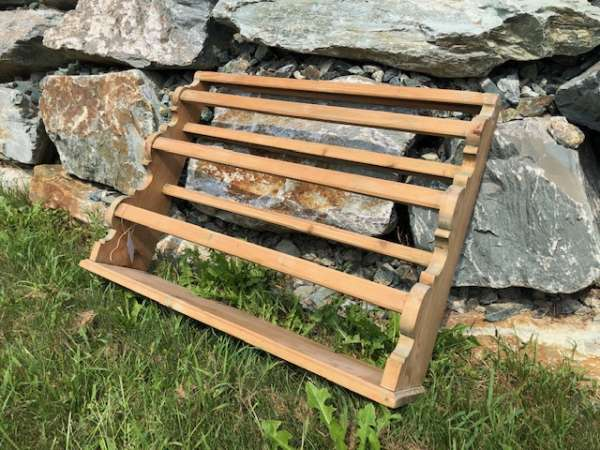altes Bauernregal Stellage Tellerboard Naturholz X2057