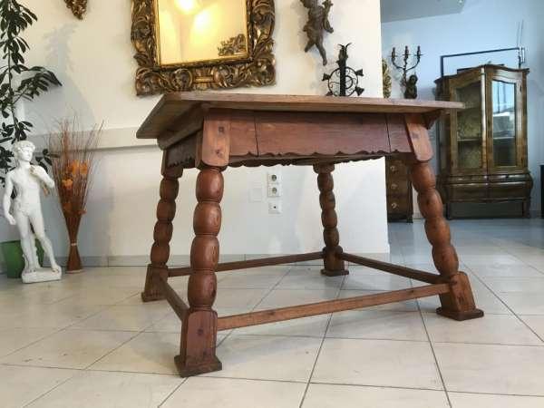 alter uriger Bauerntisch Zirbenholz Tisch Bauernstube W3096