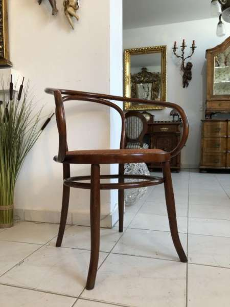 Thonet Stuhl Sessel Schreibtisch Armlehn Sessel Bugholzmöbel X1570