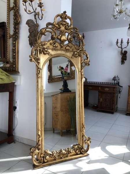 barocker Florentiner Spiegel Akanthusblattschnitzkunst original X1495