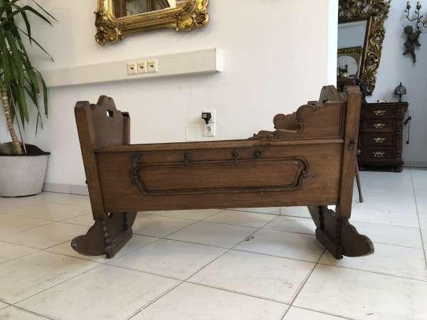 barocke originale Kinderwiege Kinderbett Bett Holzwiege Z1581