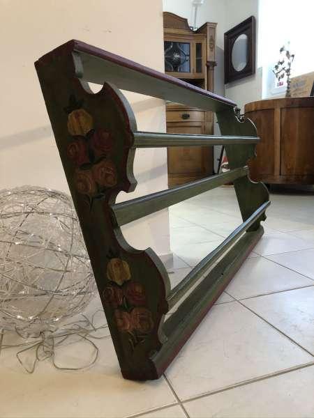originales bäuerliches Regal Stellage Tellerboard Bord Handbemalt Z2115
