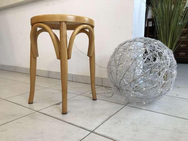 hübscher Hocker Stuhl Barhocker Rattangelfecht Z1754