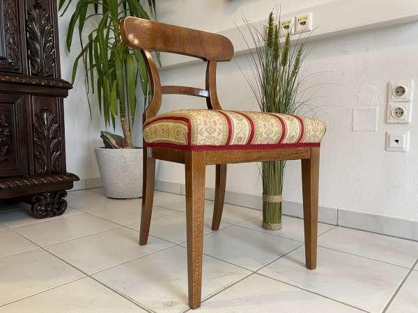 Biedermeier Sessel Nussholz Schaufelsessel Original A2518