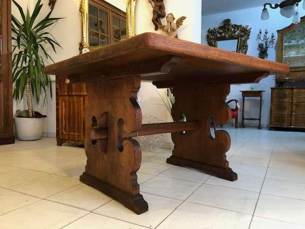 alter Bauerntisch Tisch Landhaustisch Eichenholz X2588