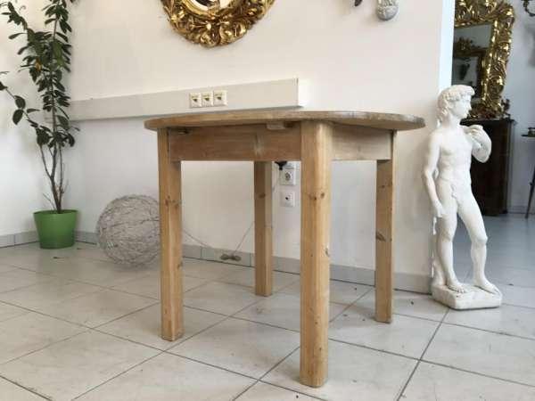 alter runder Bauerntisch Beistelltisch Tisch Altholz Beistelltisch W1706