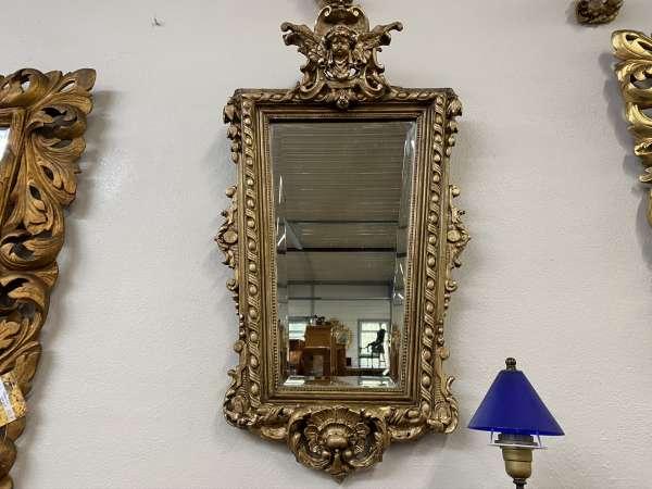 originaler Florentiner Spiegel Holzspiegel Rosenspiegel E2037