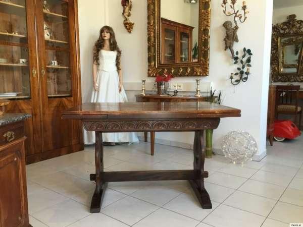 alter massiver Auszugtisch Speisezimmertisch Tisch A1296