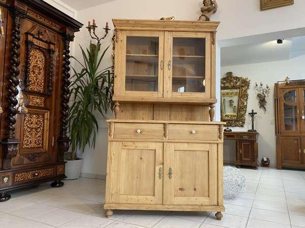 Gründerzeit Küchenbuffet Küchenschrank Küchenkredenz Bauernvitrine A2120
