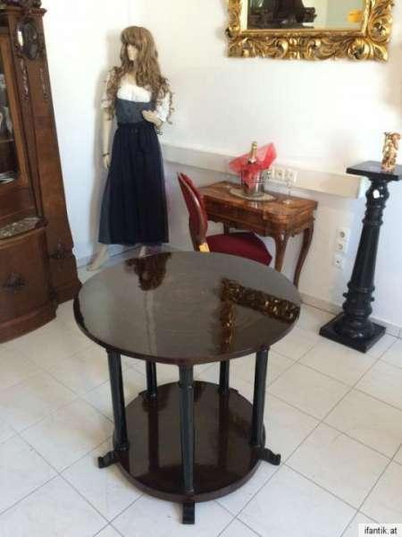 runder Biedermeier Esszimmertisch Tafeltisch Schellack Nr. 7053