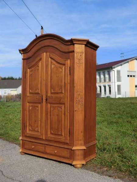 antiker Bauernschrank teilmassiver Schrank Dielenschrank Kasten - 6858