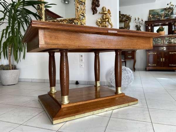 restaurierter Jugendstil Tisch Esstisch Speisezimmertisch Auszugtisch E1865