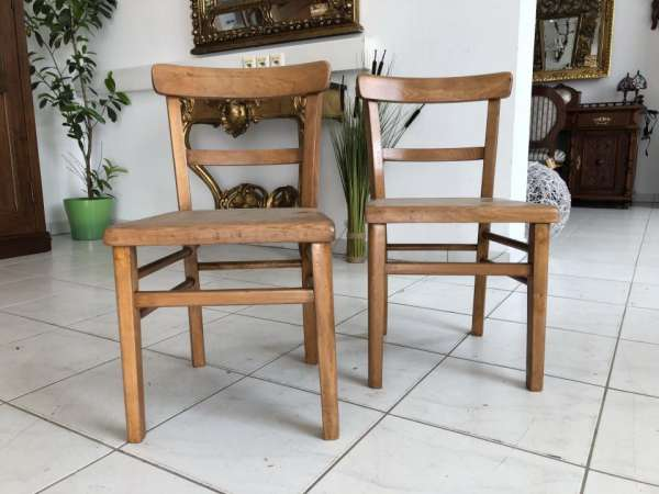 alte 2 Schulsessel Sessel Kinderstühle Holzsessel X1581