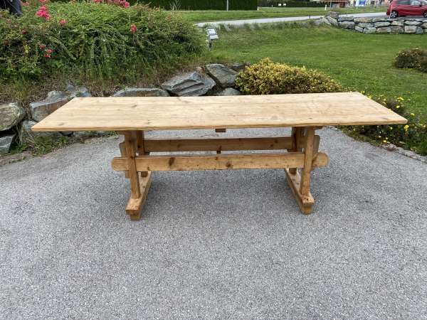urige großer Bauerntisch Jogltisch Tisch Landhaustisch Naturholz 251cm E2041