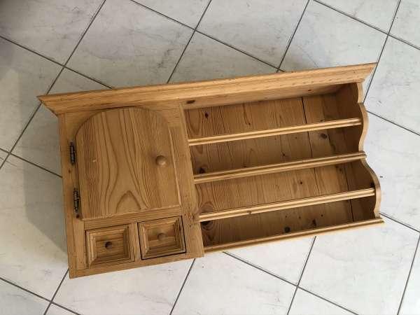 altes Bauernregal Wandregal Stellage Tellerboard Board Naturholz E1022