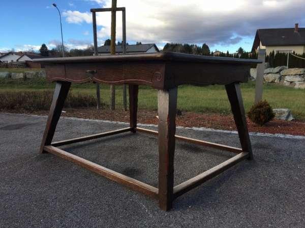 uriger bäuerlicher Tisch Jogltisch Bauerntisch Bauernmöbel handbemalt A1750