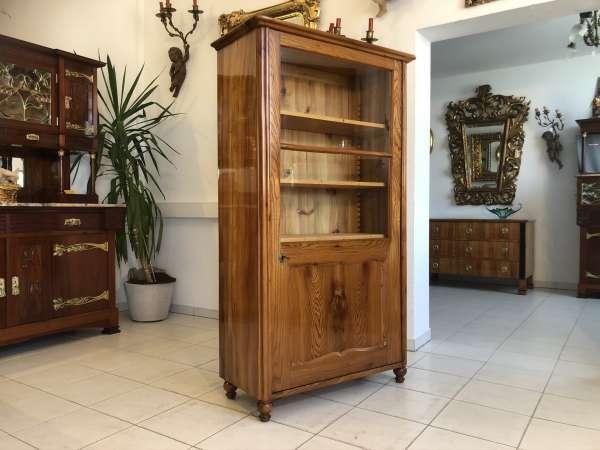 restaurierte 1 türige Biedermeier Vitrine Bücherschrank Glasschrank E1281