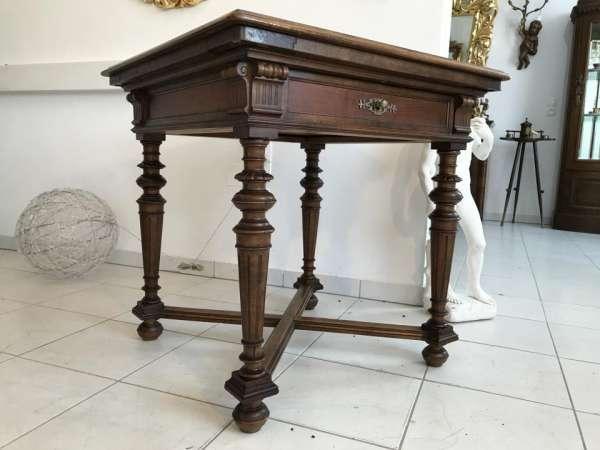 authentischer eckiger Gründerzeit Spieltisch Tisch Schachtisch- W1715