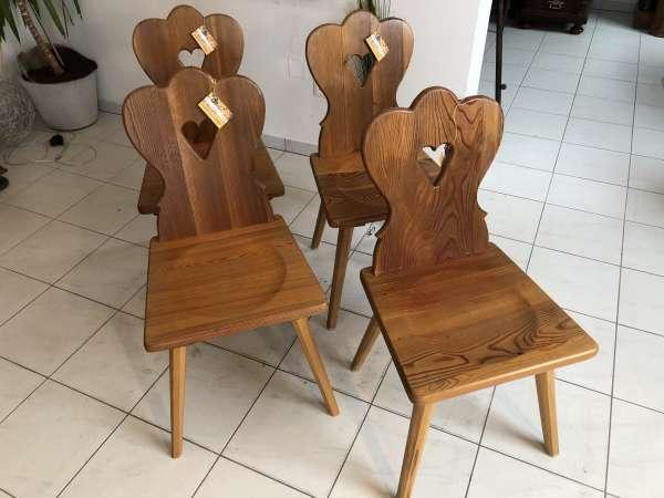 4 Bauernsessel Sessel Stuhl Ensemble Kiefernholz Z1348