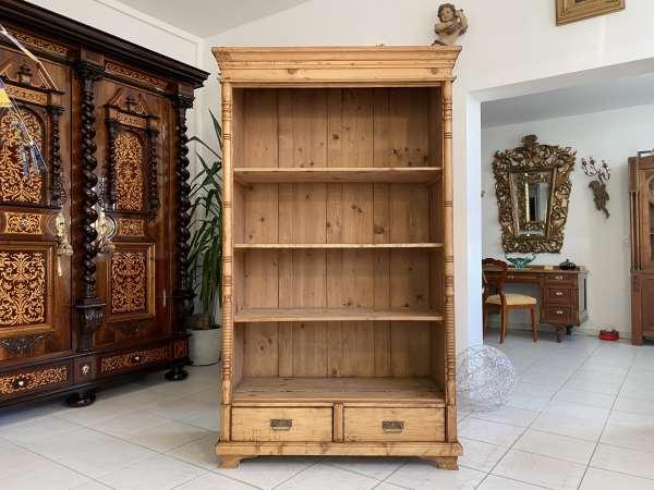 altes Bücherregal Stellage Gründerzeit Bücherschrank Naturholzmöbel A2159