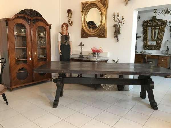 uriger Bauerntisch Esstisch Tisch Altholz Refektoriumtisch Riesig - W1358