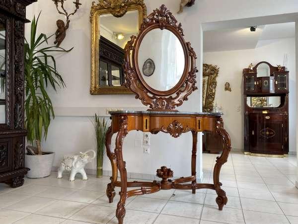 restaurierter Rokoko Schminktisch Spiegeltisch Damenschreibtisch A2649