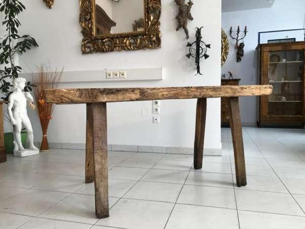 uriger Hacktisch Designer Tisch Bauerntisch Hüttentisch W3259
