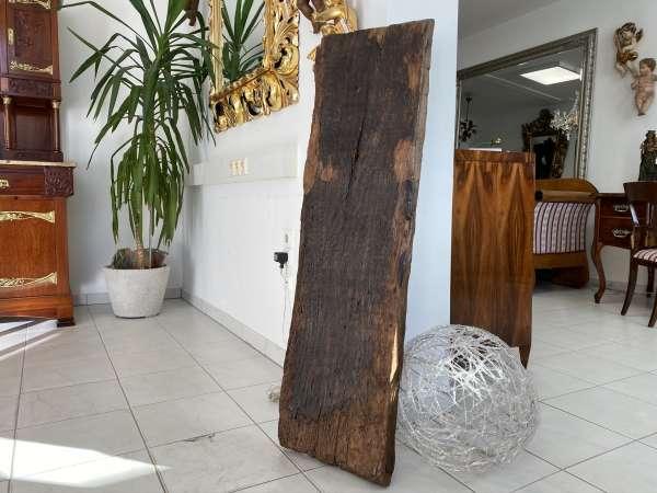 uriger Holzpfosten Tischplatte Altholz, Holzbrett, Regalbrett E1972