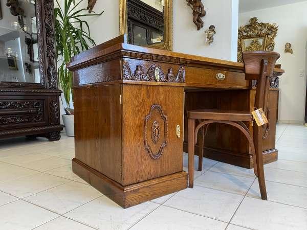 Originalstück Jugendstil Schreibtisch Sekretär Freisteher A2635