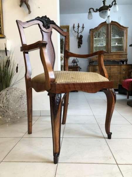 originaler Jugendstil Schreibtischsessel Stuhl Armlehnstuhl X1699