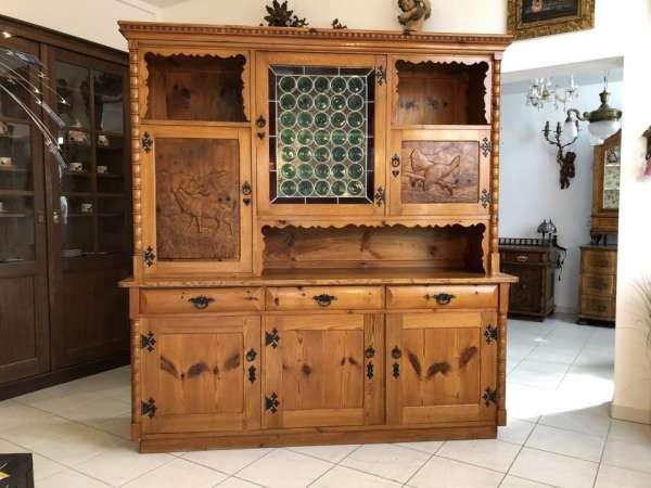 hübsche Zirbenholz Kredenz Aufsatzkredenz Küchenschrank Buffet - X1522