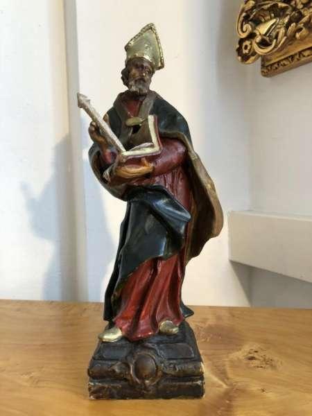 Bischof Heiligenfigur Wachsfigur Bibelausschnitt X1510