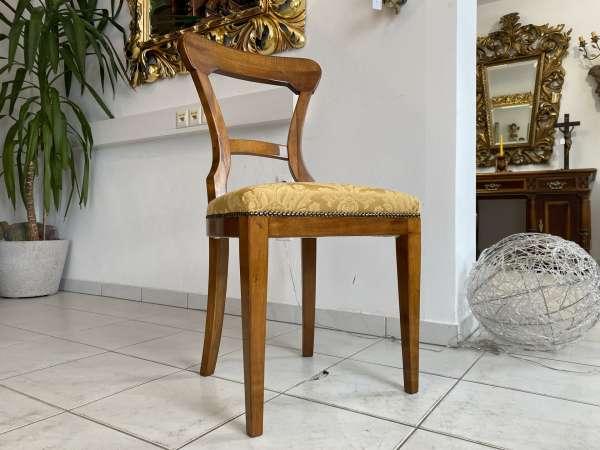 Biedermeier Sessel Nussholz Fledermaus Stuhl Original A2060