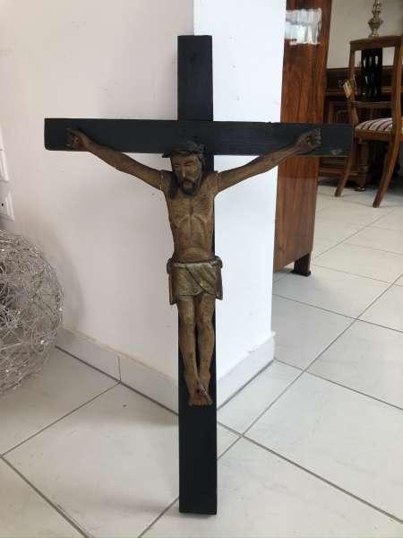 INRI Kruzifix Jesu Christi Kreuz Wandkreuz Dreinageltypus Holz 18./19.Jhdt Z2021