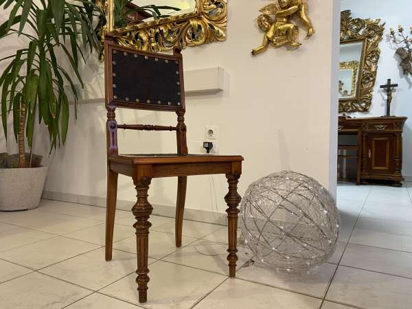 1 Stück Armlehnstuhl Gründerzeit Stuhl Sessel für Schminktisch E2306