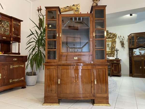 originales Jugendstil Vitrine Buffet Vitrinenschrank Buffet E2341