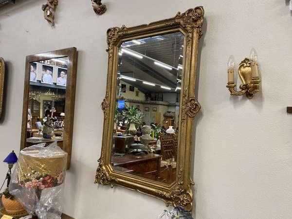 originaler Venezianer Spiegel Biedermeier Spiegel Holzschnitzerei E2339