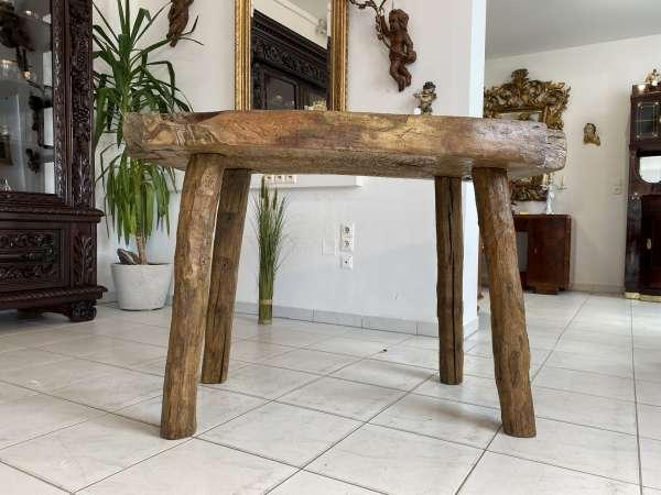 uriger Hacktisch Designer Tisch Bauerntisch Bauernmöbel A2524