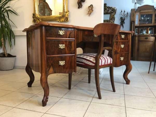 Originaler Spätbiedermeier Schreibtisch Sekretär Schreibmöbel Z1117