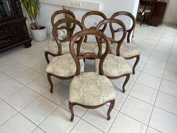Ensemble hübscher Barockstil Sessel Stuhl Medaillonstühle A2719