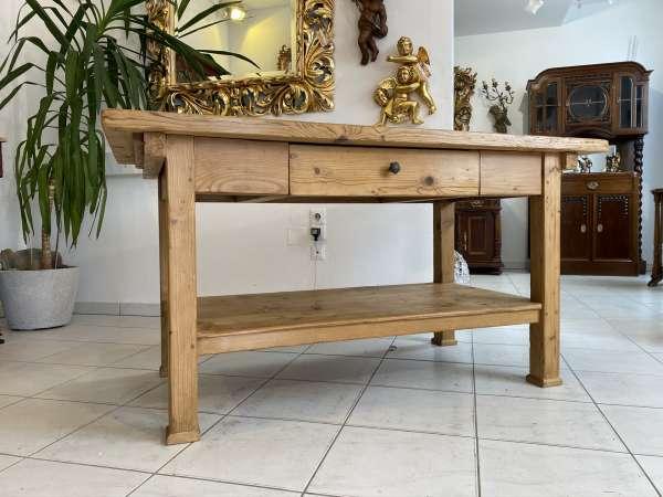 uriger großer Bauerntisch Jogltisch Tisch Landhaustisch Naturholz 150cm E2042