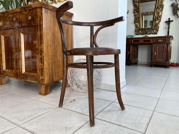 originaler Stuhl Sessel Bugholzsessel Armlehnstuhl Holzsessel A2187