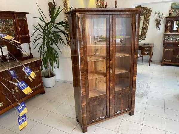 restaurierte Biedermeier Vitrine Bücherschrank Glasschrank E1858