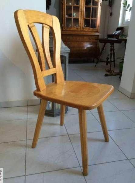 uriger hübscher Bauernsessel Stuhl Naturholz 3783