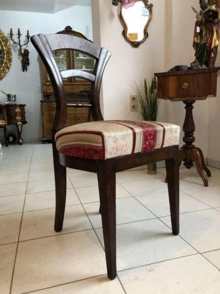 Biedermeier Sessel Nussholz Schaufelsessel Original X1233